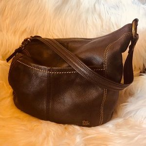 The Sak Brown Leather Iris Hobo Bag